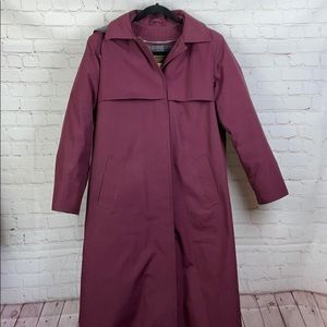 Eddie Bauer Vintage Goose Down Lined Trench Coat L